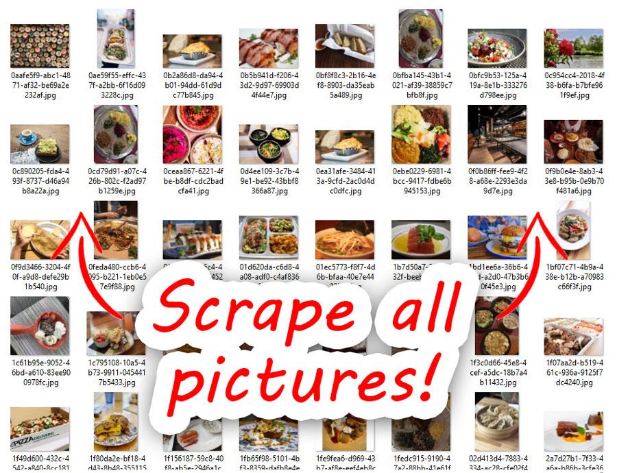 Yelp scraper - images list
