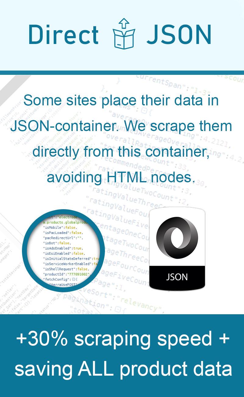 Data scraper - DirectJson technology