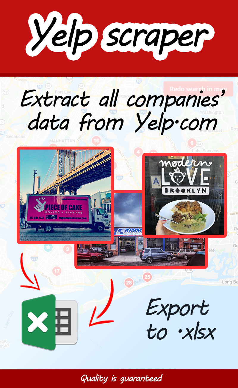Yelp.com scraper - scrape data from Yelp product pages