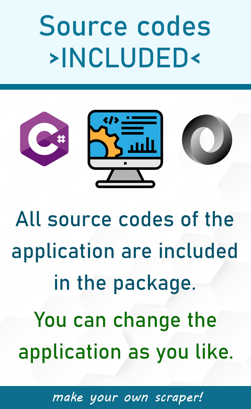 Data scraper - source codes included