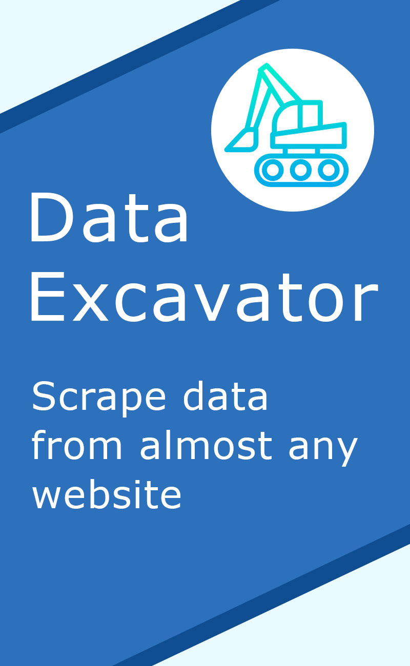 DataExcavator - application for web data scraping. Data extraction, data parsing.