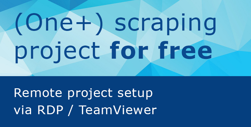 Free scraping project