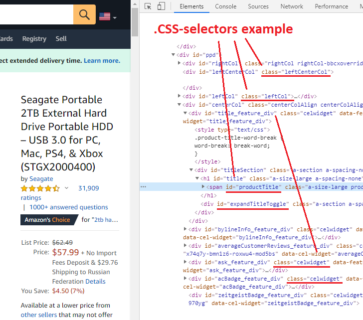 What .CSS selectors are