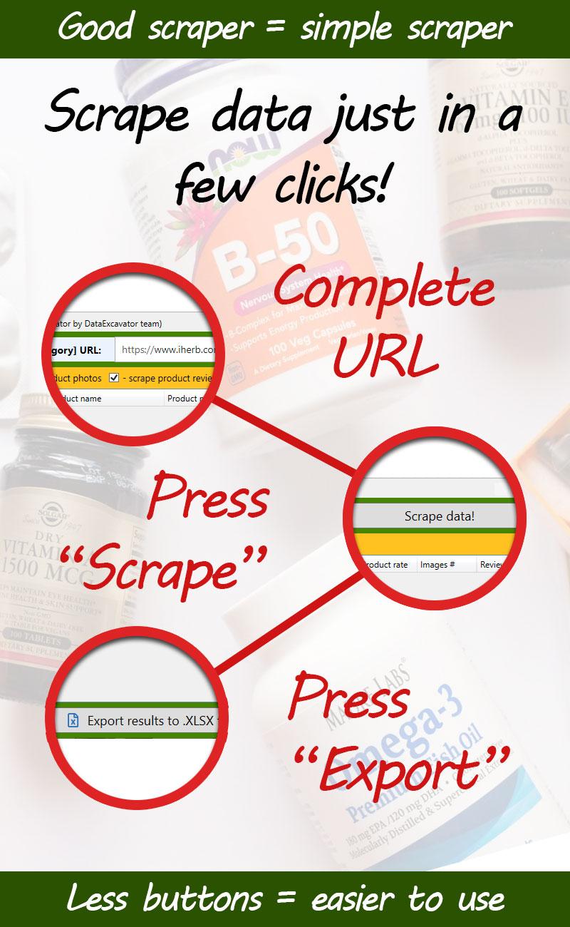 iHerb.com scraper - scrape data from iHerb product pages